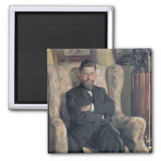 Portrait of the collector Alexei A. Bakhrush Magnet