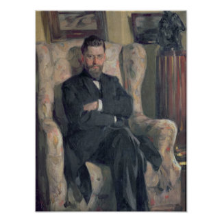 Portrait of the collector Alexei A. Bakhrush Poster