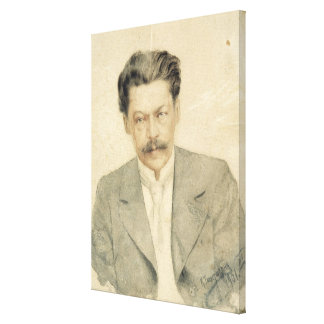 Portrait of the composer Anton Arensky Canvas Print