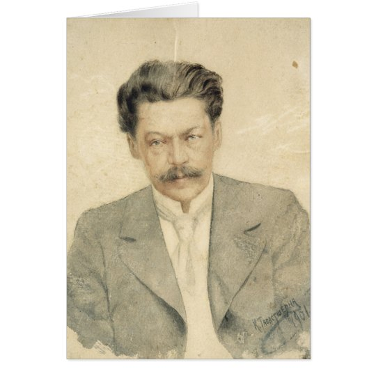 Portrait of the composer Anton Arensky Card