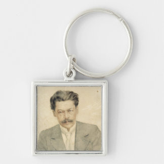 Portrait of the composer Anton Arensky Silver-Colored Square Keychain