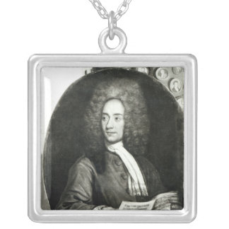 Portrait of the Composer Tomaso Giovanni Silver Plated Necklace