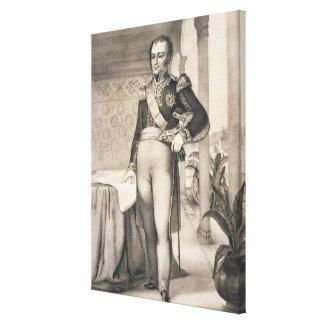 Portrait of the Comte de Bourmont (1773-1846), Com Gallery Wrap Canvas