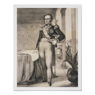 Portrait of the Comte de Bourmont (1773-1846), Com Poster