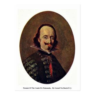 Portrait Of The Conde De Peñaranda. Postcard