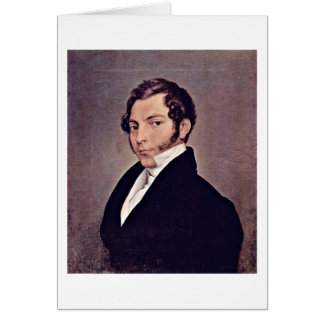 Portrait Of The Count Ninni By Francesco Hayez Greeting Card