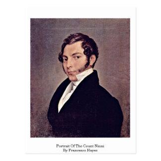 Portrait Of The Count Ninni By Francesco Hayez Postcard