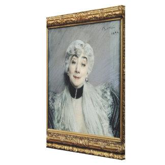 Portrait of the Countess de Martel de Janville Canvas Prints
