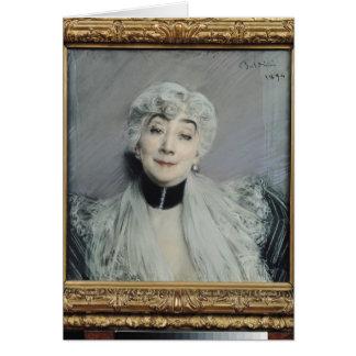 Portrait of the Countess de Martel de Janville Greeting Cards