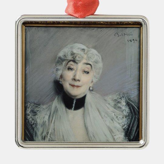 Portrait of the Countess de Martel de Janville Metal Ornament