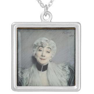 Portrait of the Countess de Martel de Janville Necklaces