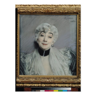 Portrait of the Countess de Martel de Janville Poster