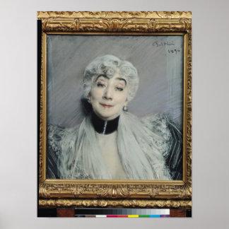 Portrait of the Countess de Martel de Janville Posters
