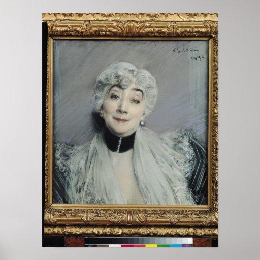 Portrait of the Countess de Martel de Janville Poster