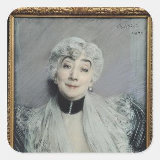 Portrait of the Countess de Martel de Janville Square Sticker