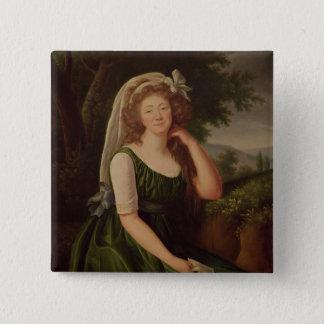 Portrait of the Countess du Barry  1789 Button