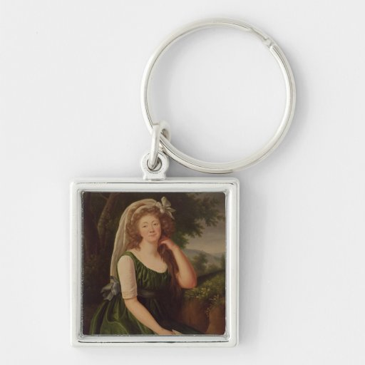 Portrait of the Countess du Barry  1789 Keychains