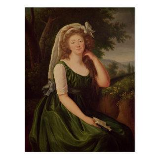 Portrait of the Countess du Barry  1789 Postcard