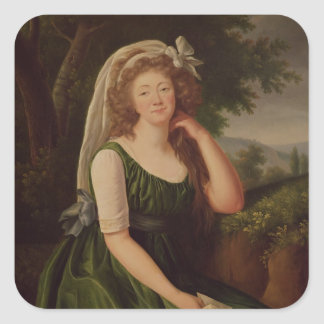 Portrait of the Countess du Barry  1789 Square Sticker