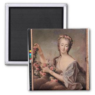 Portrait of the Countess du Barry  as Flora Magnet