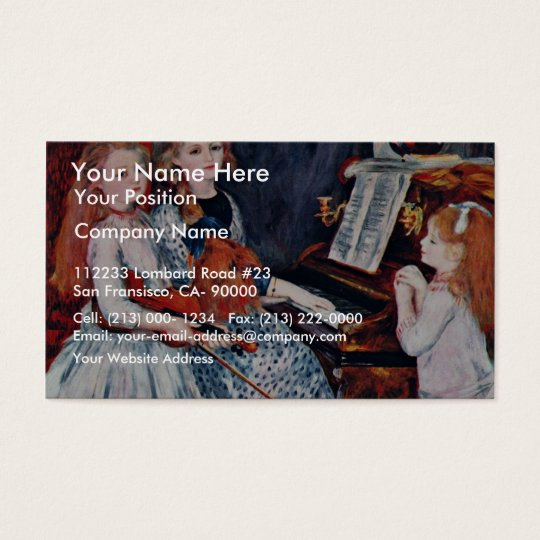 Portrait Of The Daughters Of Catulle-Mendes Business Card