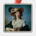 Portrait of the Duchess of Polignac Christmas Tree Ornament