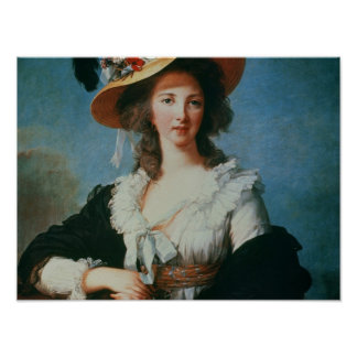 Portrait of the Duchess of Polignac Poster