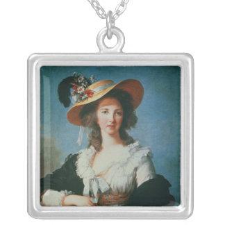 Portrait of the Duchess of Polignac Square Pendant Necklace