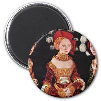 Portrait Of The Duchesses Emilla Sybille Von Sachs Refrigerator Magnets