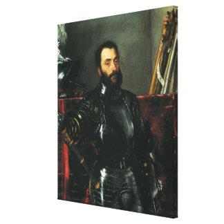 Portrait of the Duke of Urbino by Titian Canvas Print