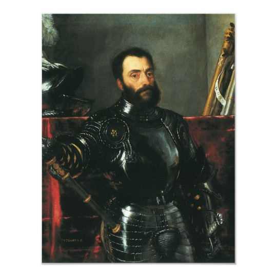 Portrait of the Duke of Urbino by Titian Card