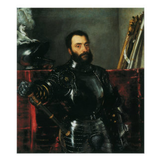 Portrait of the Duke of Urbino by Titian Poster