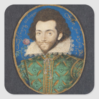Portrait of the Earl of Pembroke, 1617 Square Sticker