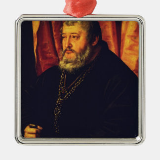 Portrait of the Elector Palatine Otto Henry Metal Ornament