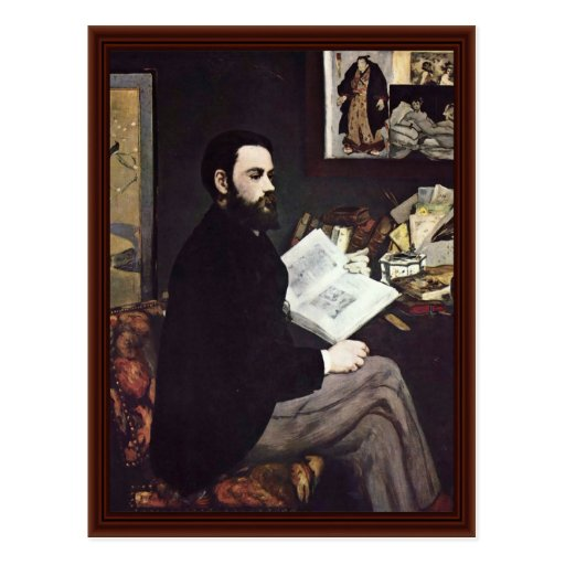 Portrait Of The Emile Zola By Manet Edouard Postcard