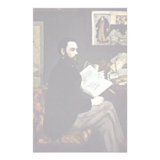 Portrait Of The Emile Zola By Manet Edouard Personalized Stationery