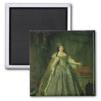 Portrait of the Empress Anna Ivanovna  1730 2 Inch Square Magnet