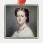 Portrait of the Empress Eugenie Metal Ornament