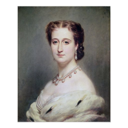 Portrait of the Empress Eugenie Poster