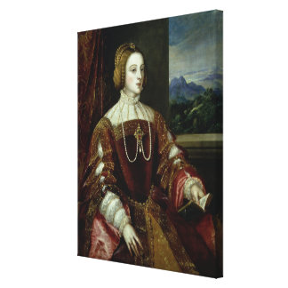 Portrait of the Empress Isabella of Portugal Canvas Print