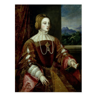 Portrait of the Empress Isabella of Portugal Postcard
