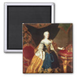 Portrait of the Empress Maria Theresa 2 Inch Square Magnet