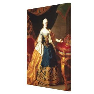 Portrait of the Empress Maria Theresa Canvas Print