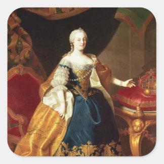 Portrait of the Empress Maria Theresa Square Sticker