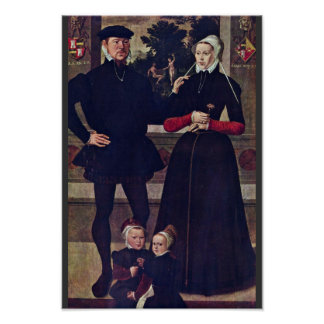 Portrait Of The Family Van Gindertaelen By Meister Poster