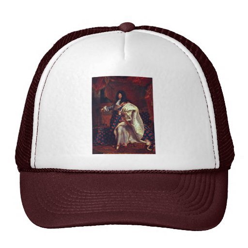 Portrait Of The French King Louis Xiv By Rigaud Hy Trucker Hat