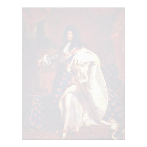 Portrait Of The French King Louis Xiv By Rigaud Hy Customized Letterhead