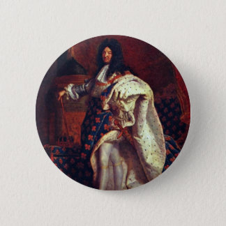 Portrait Of The French King Louis Xiv By Rigaud Hy Pinback Button