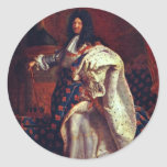 Portrait Of The French King Louis Xiv By Rigaud Hy Classic Round Sticker
