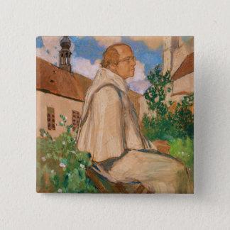 Portrait of the geneticist Johann Gregor Pinback Button